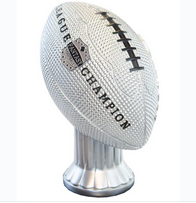 Vivid Football Trophy Silver Topper