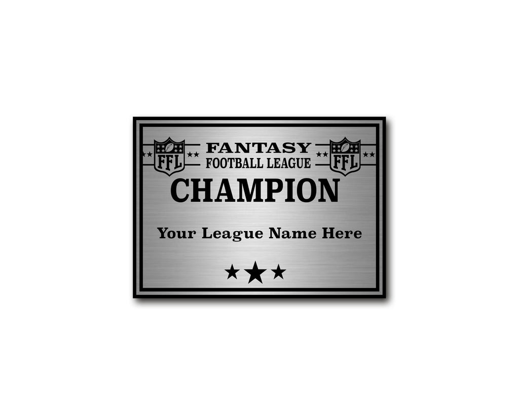 Square Base League Plate - Champion