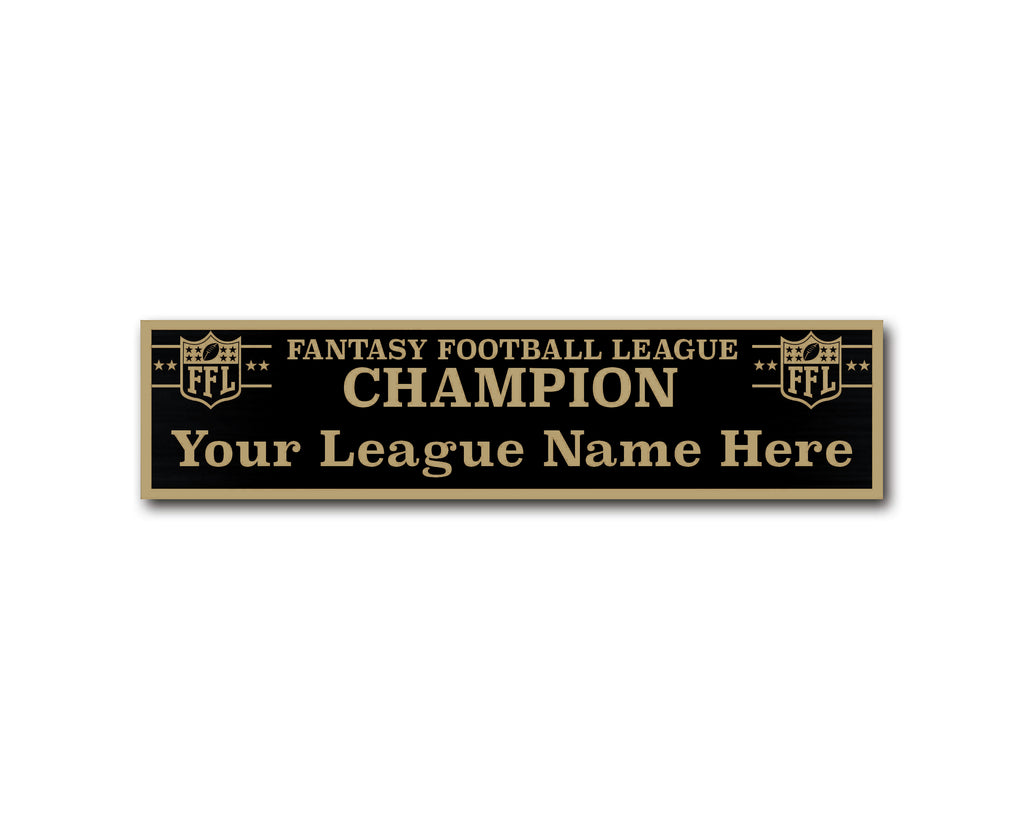 Perpetual League Plate - Black / Gold