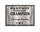 TrophySmack Square Base Baseball / Fantasy Baseball League Plate