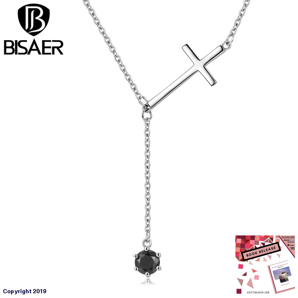 100% 925 Sterling Silver Love Of Faith Christian Cross Pendant Necklaces Jewelry Wedding Collar