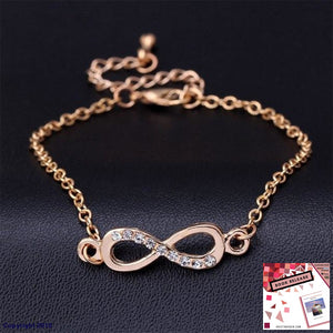 2016 Pulsera Infinite Charm Of Infinity Symbol Figure 8 Crystal Bracelet Eternity Friendship