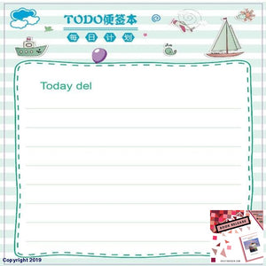 7.5X7.5Cm Kawaii Memo Pad Sticky Notes Cute Checklist To Do List Plan For School Office Supplies