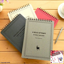 Load image into Gallery viewer, B5/16K Simple Notepad Inverted Coil Retro Notebook