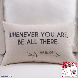 Cotton Linen Pillow Cover Dots Motivative Worlds English Letter Cushion Home Decorative Case