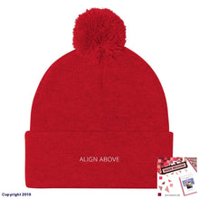 Load image into Gallery viewer, Pom Knit Cap Red Signature Align Above