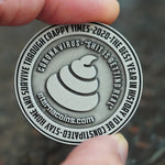 """Currency of the Pandemic"" Coronavirus Inspired Challenge Coin in Antique Silver"