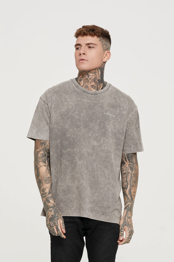 Oversized Everyday Acid Wash Grey T-shirt
