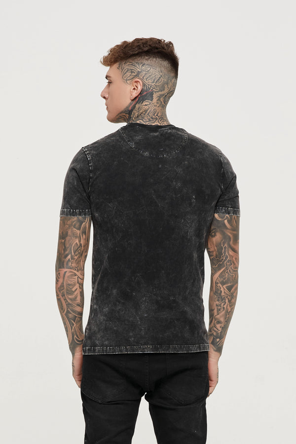 Everyday Acid Wash Black T-shirt