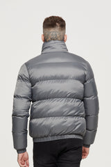 Ripstop Grey Puffer Jacket