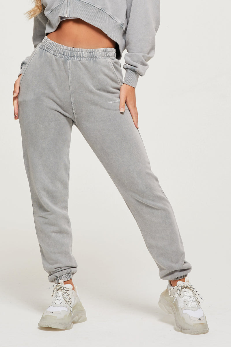 Acid Wash Grey Jogger