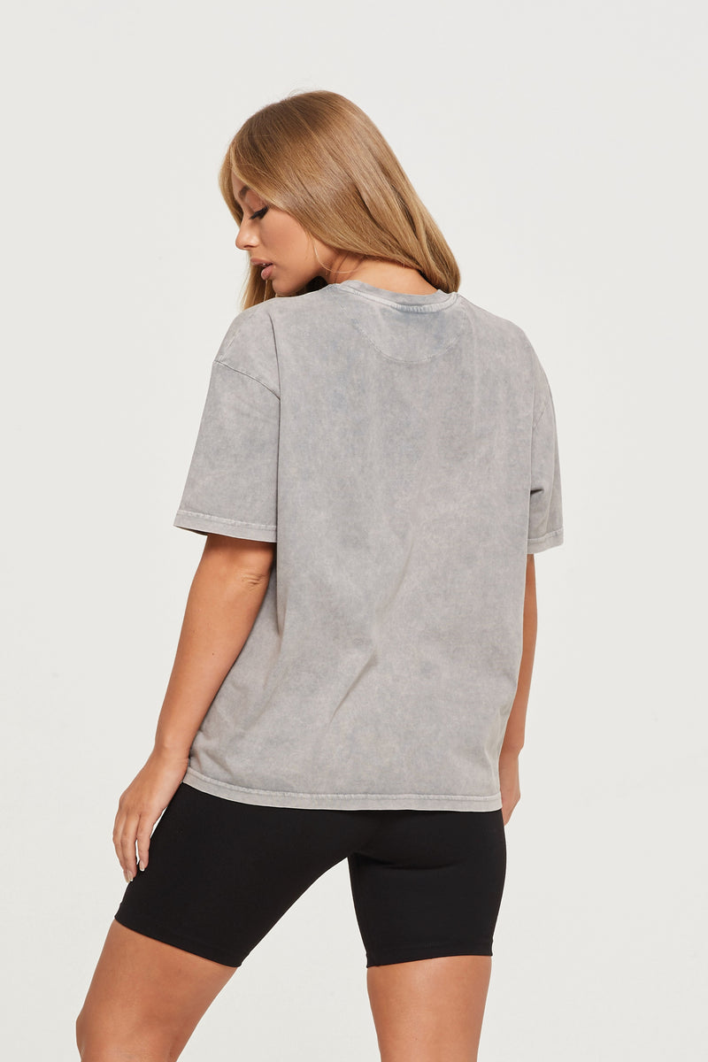 Oversized Acid Wash Grey T-shirt