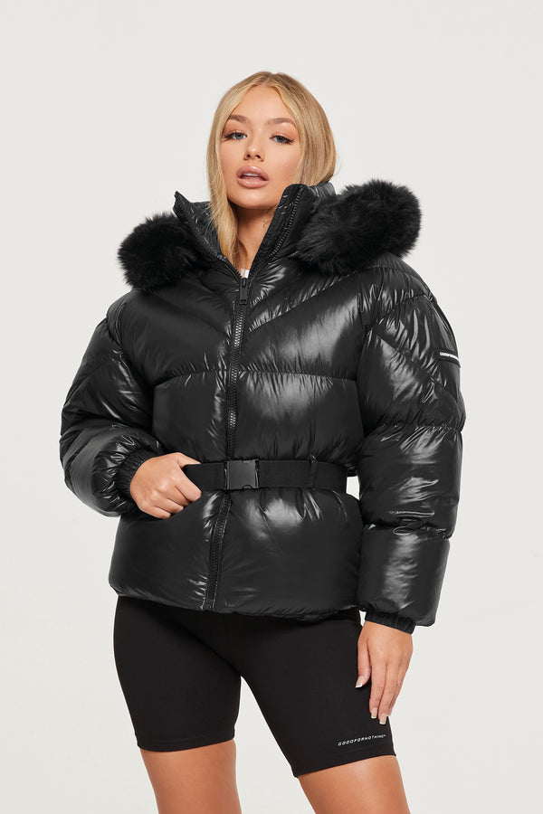 GFN_Zurich-Black-Puffer-Coat_Front-zipped