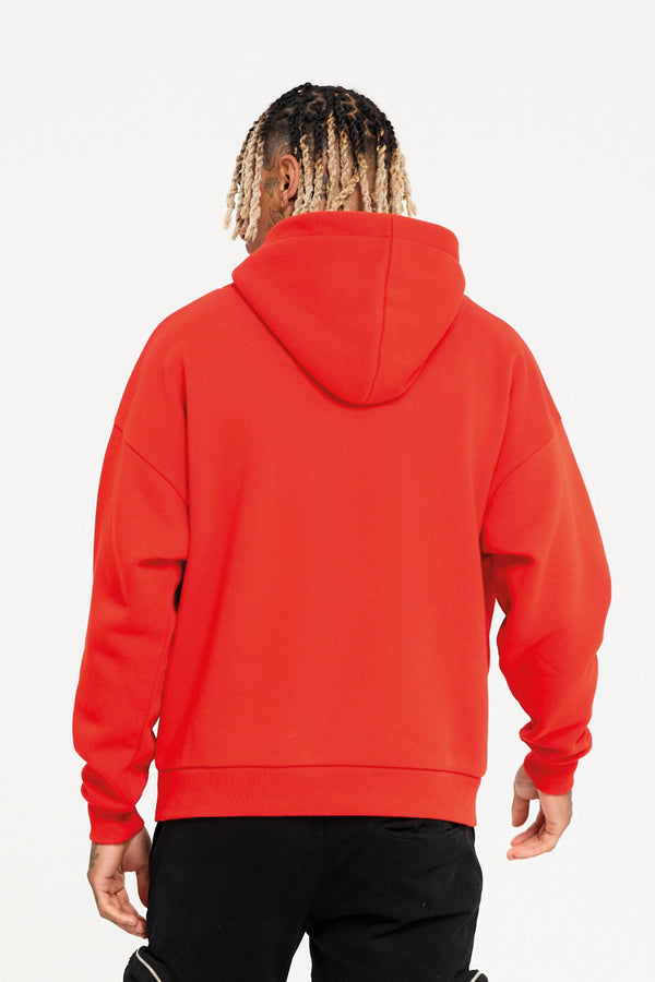 Oversized Trail Red Hoodie