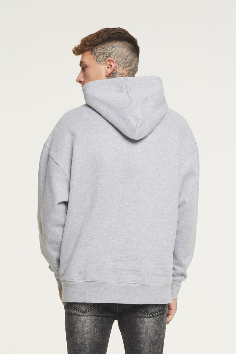 Oversized Stamp Grey Hoodie