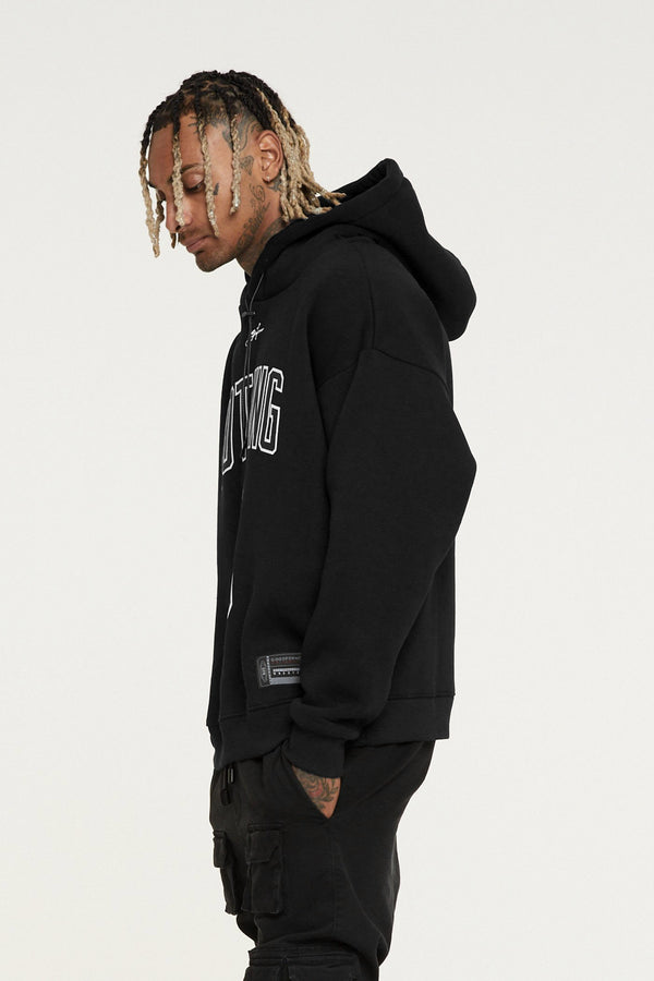 Oversized Nothing Black Hoodie
