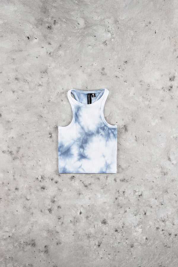 Tie Dye Blue Crop Top