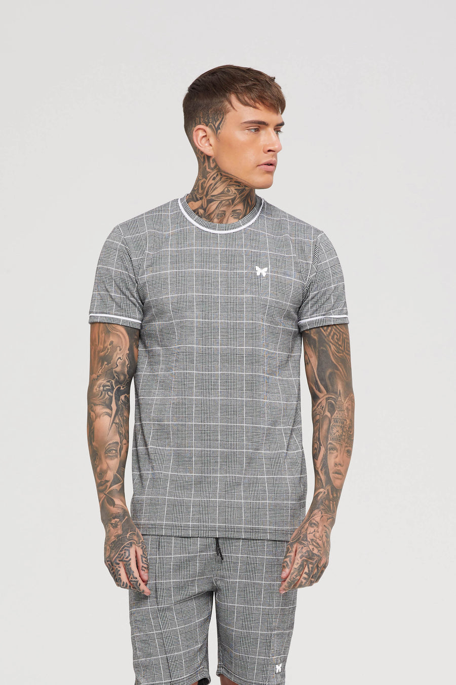 Legacy Grey Check T-shirt