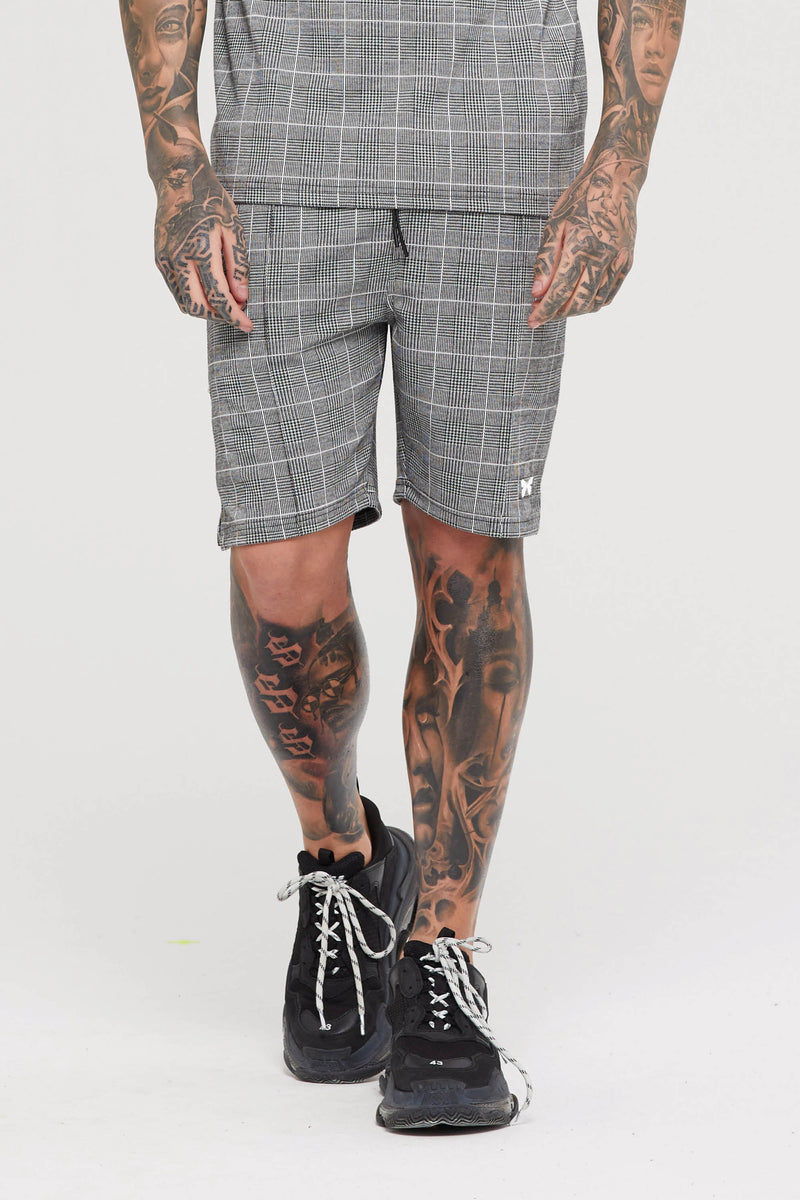 Legacy Grey Check Shorts