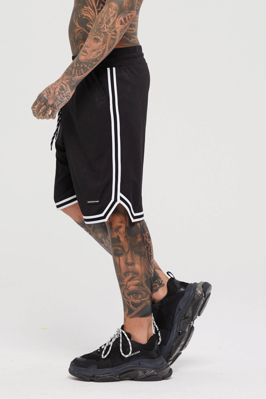 Basketball Mesh Black Shorts
