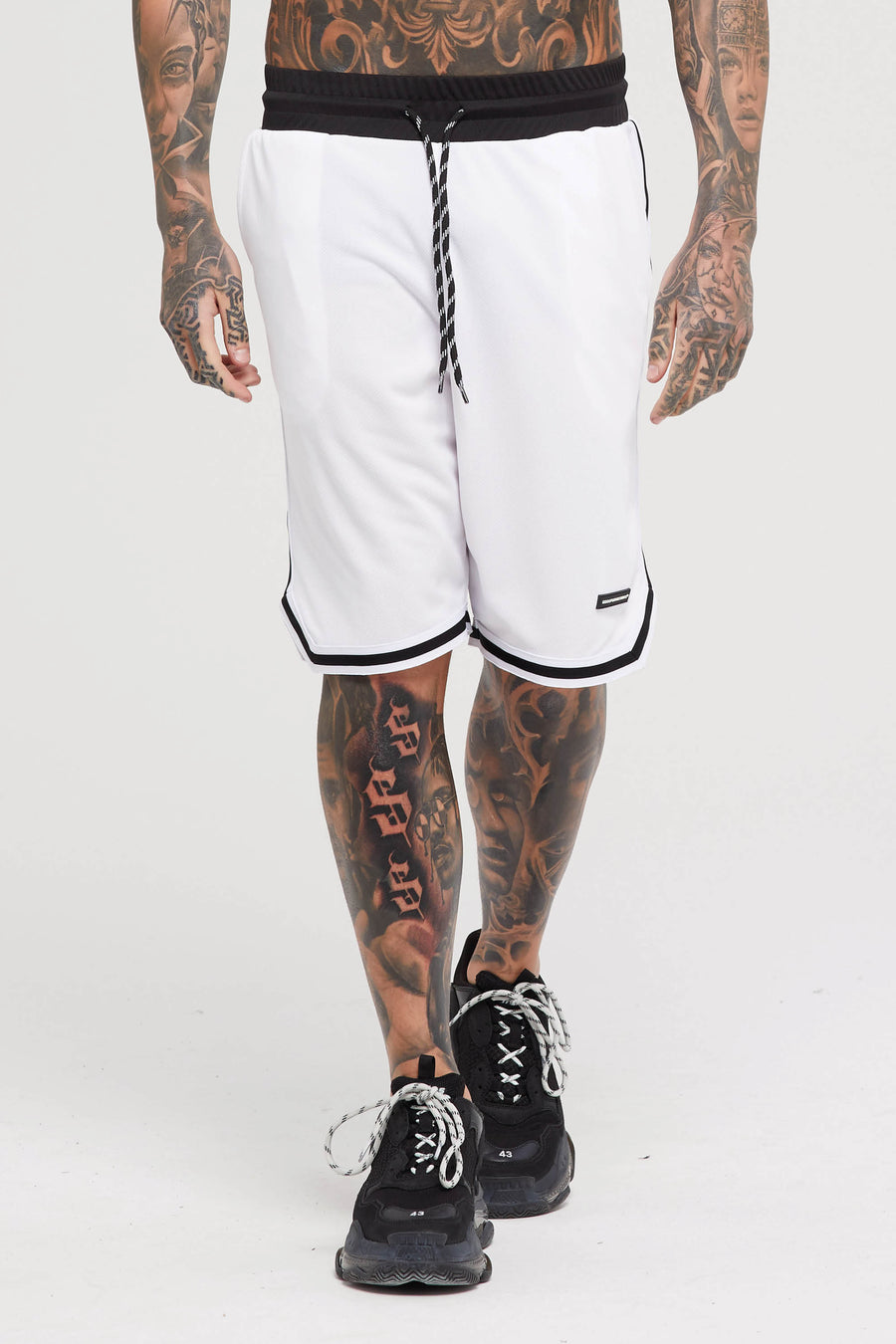 Basketball Mesh White Shorts