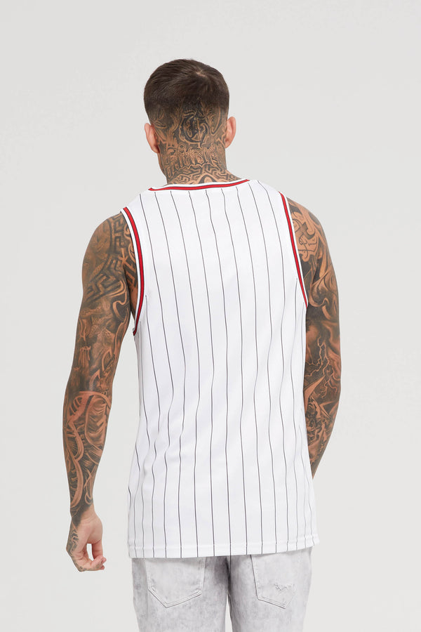 Nothing Pinstripe White Vest
