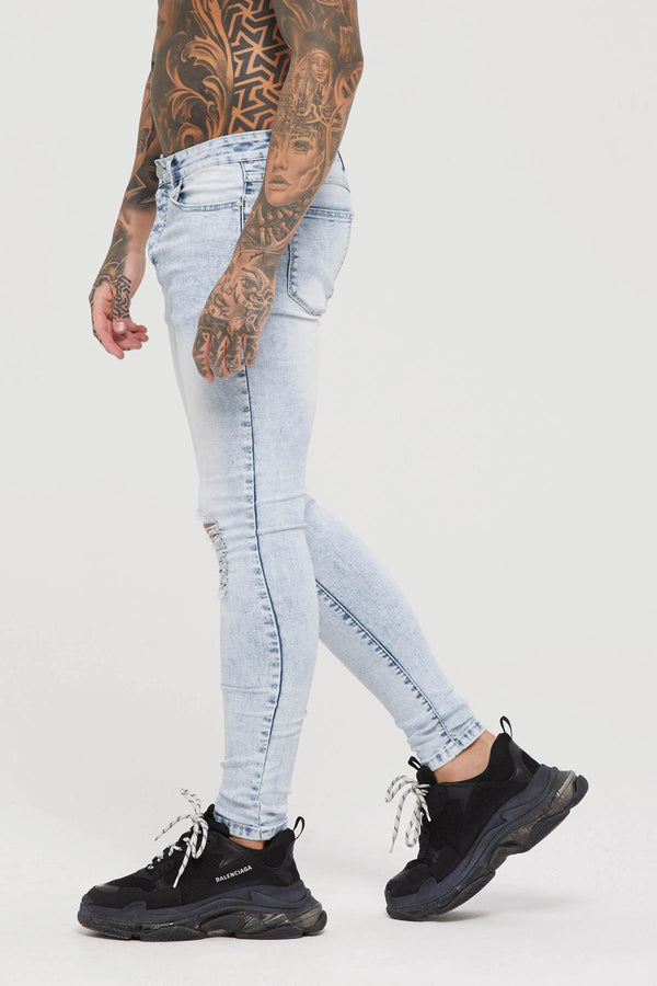 Skinny Thrasher Acid Blue Denim