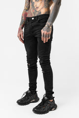 Skinny Destroyed Black Denim