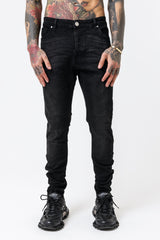 Skinny Washed Black Denim