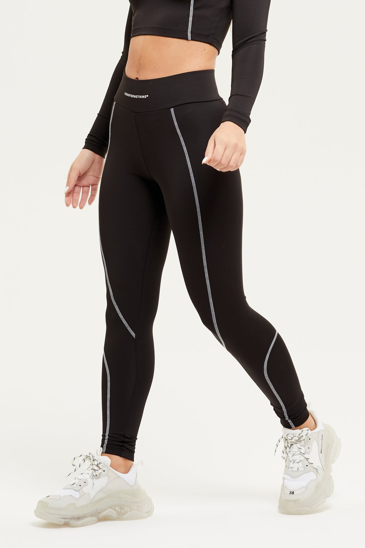 Track Black Legging