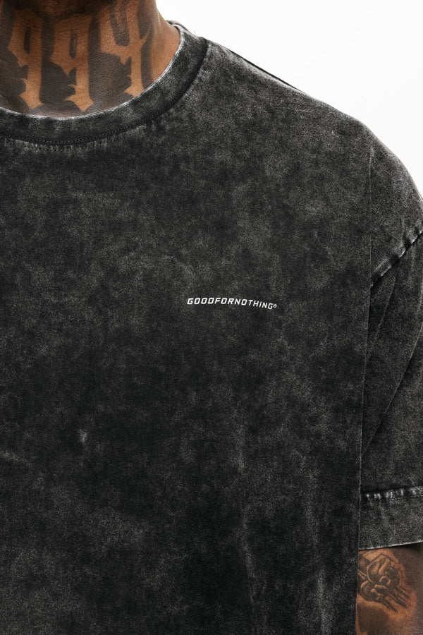 Oversized Everyday Acid Wash Black T-Shirt
