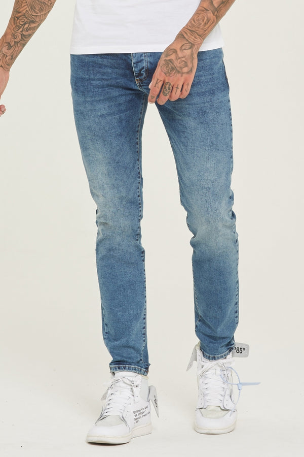Slim Fit Blue Denim Jeans