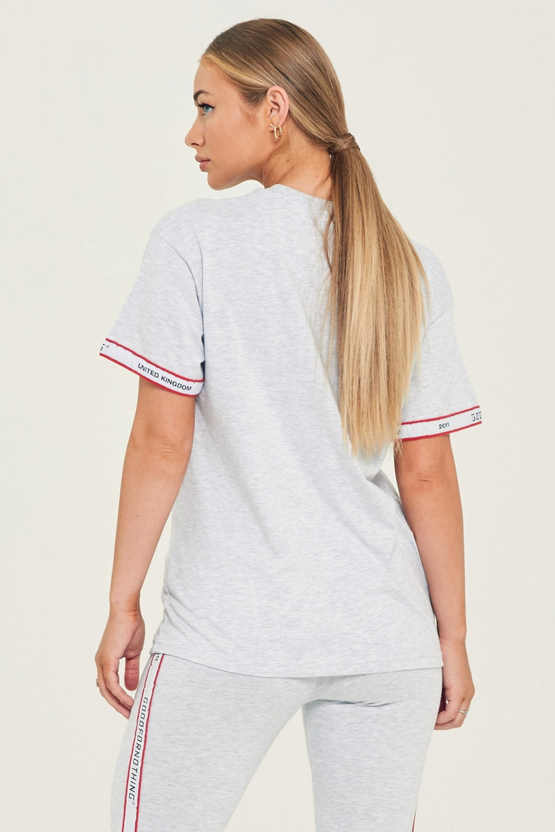 Grey Marl Tape T-Shirt