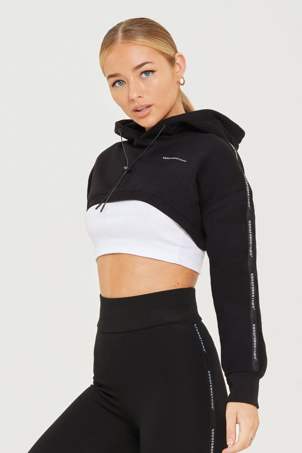 Super Cropped Black Future Hood