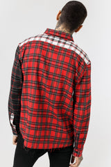 Patch Red Flannel Shirt