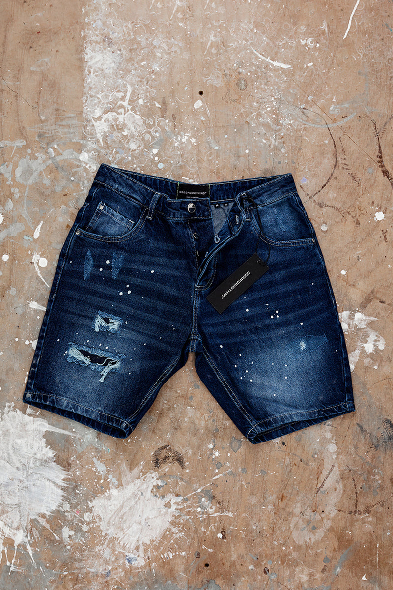 Reworked Blue Denim Shorts