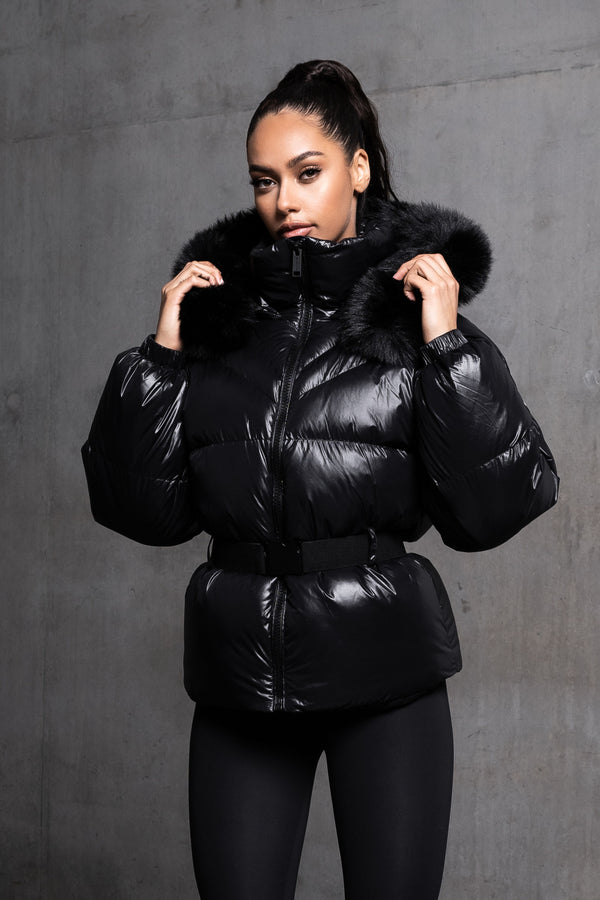 Zurich Black Puffer Coat