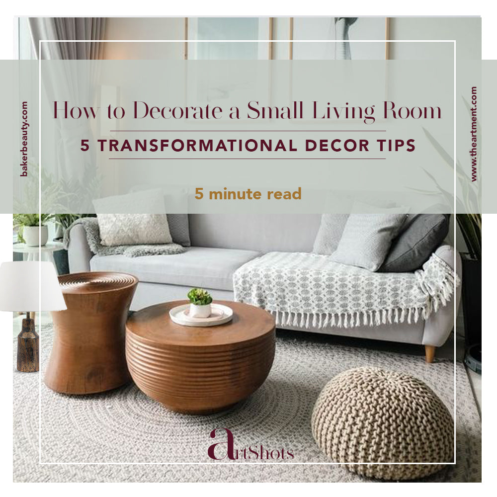 5 Ways to Make the Best out of a Small Living Room!