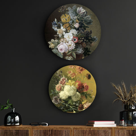 Flowers in an Imperial Style Canvas
