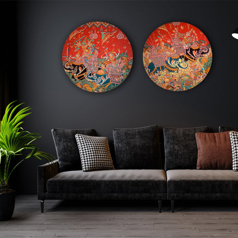 Inspired by Thai Murals Canvas
