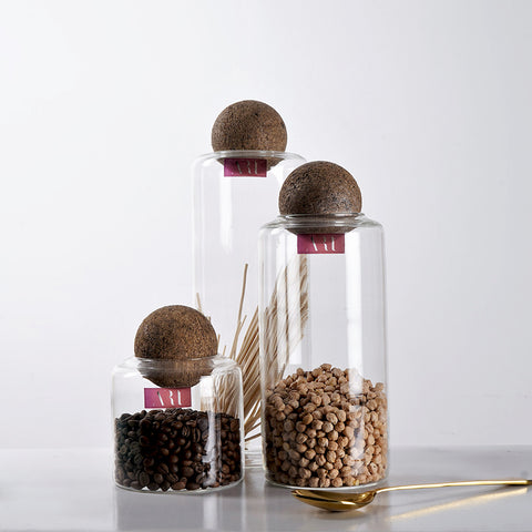 Minimalist Clear Glass Storage Containers
