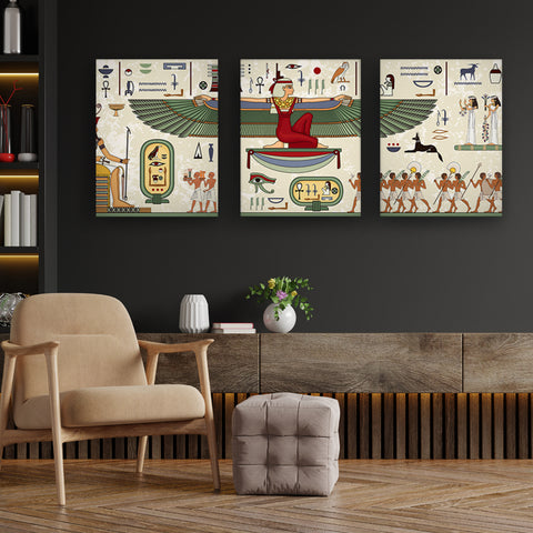 Murals of Thebes Canvas