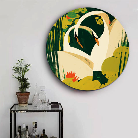 Pair of Mute Swans Canvas