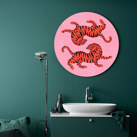 Yin and Yang Tiger King Canvas