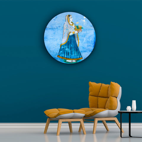 Simply Royal Lady in Blue Canvas