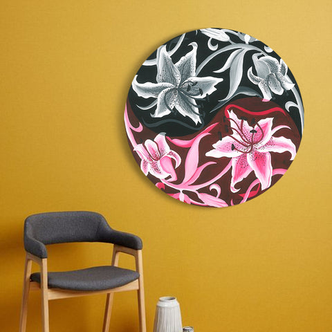 Yin and Yang Lily Canvas