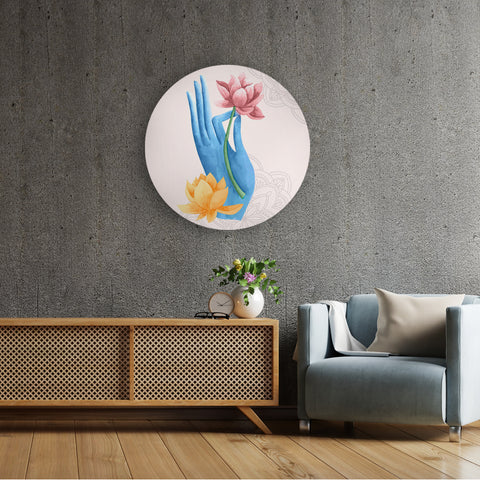 Lively Lotus and Colors Canvas
