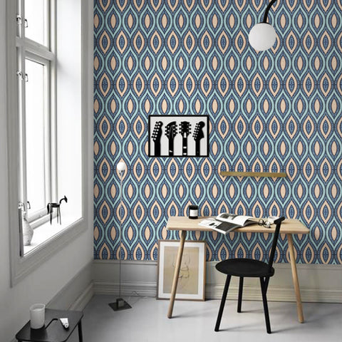 Bohemian Eye Printed Textured Self Adhesive Mural Wallpaper