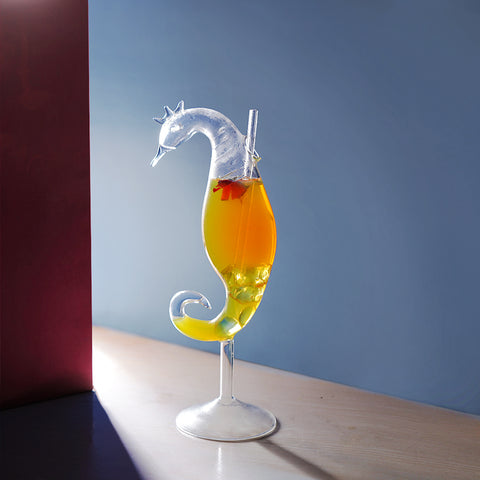 Greek Seahorse Cocktail Glass
