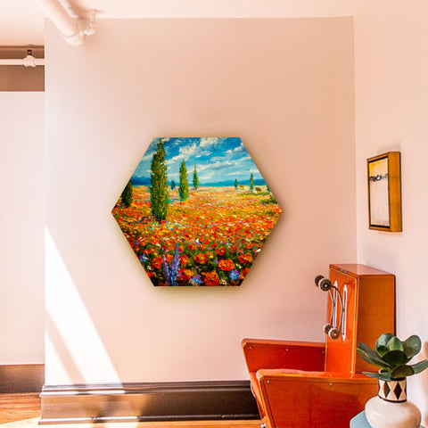 Spring Field with Cyprus Canvas